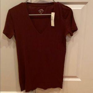 J Crew Maroon Tshirt